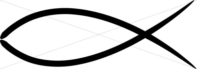 Christian clipart fish. Symbol