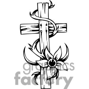christian clipart line