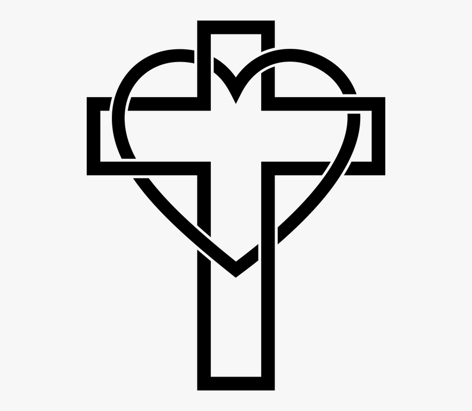 Illustration of cross clip. Christian clipart logo