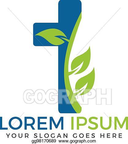 Eps illustration cross design. Christian clipart logo