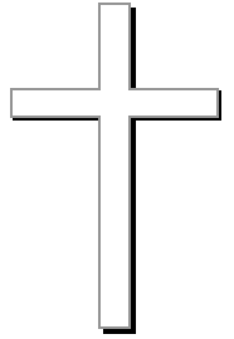 White cross w gray. Confirmation clipart crucifix