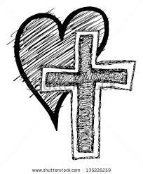 christian clipart outline