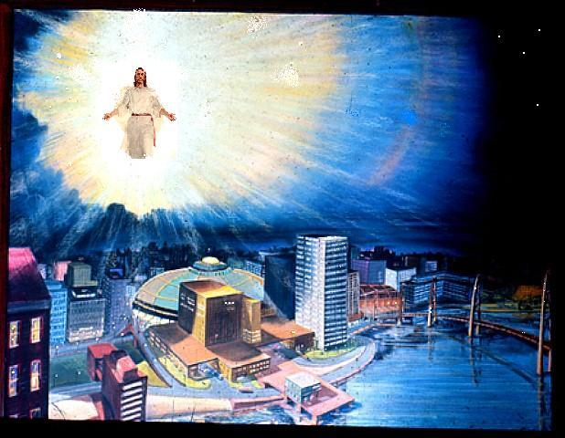Christian clipart second coming. Photos christ over modern