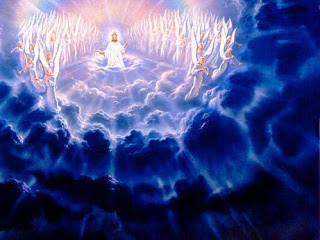 Jesus christ from heaven. Christian clipart second coming
