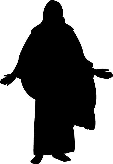 Mormon share christ jenny. Christian clipart silhouette