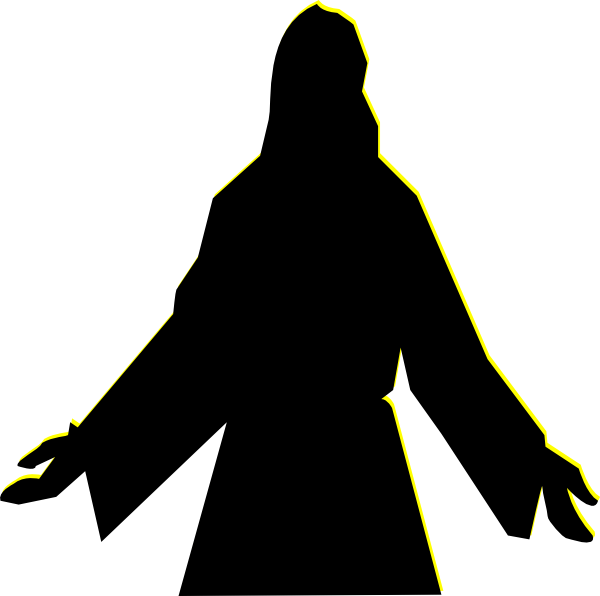 Jesus at getdrawings com. Christian clipart silhouette