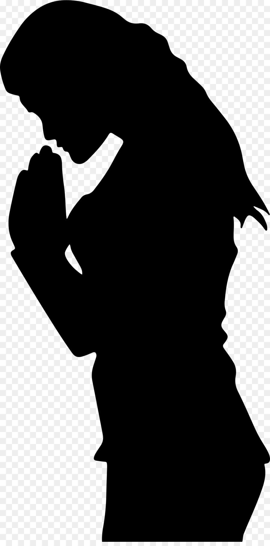 Christian clipart silhouette. Man cartoon illustration black