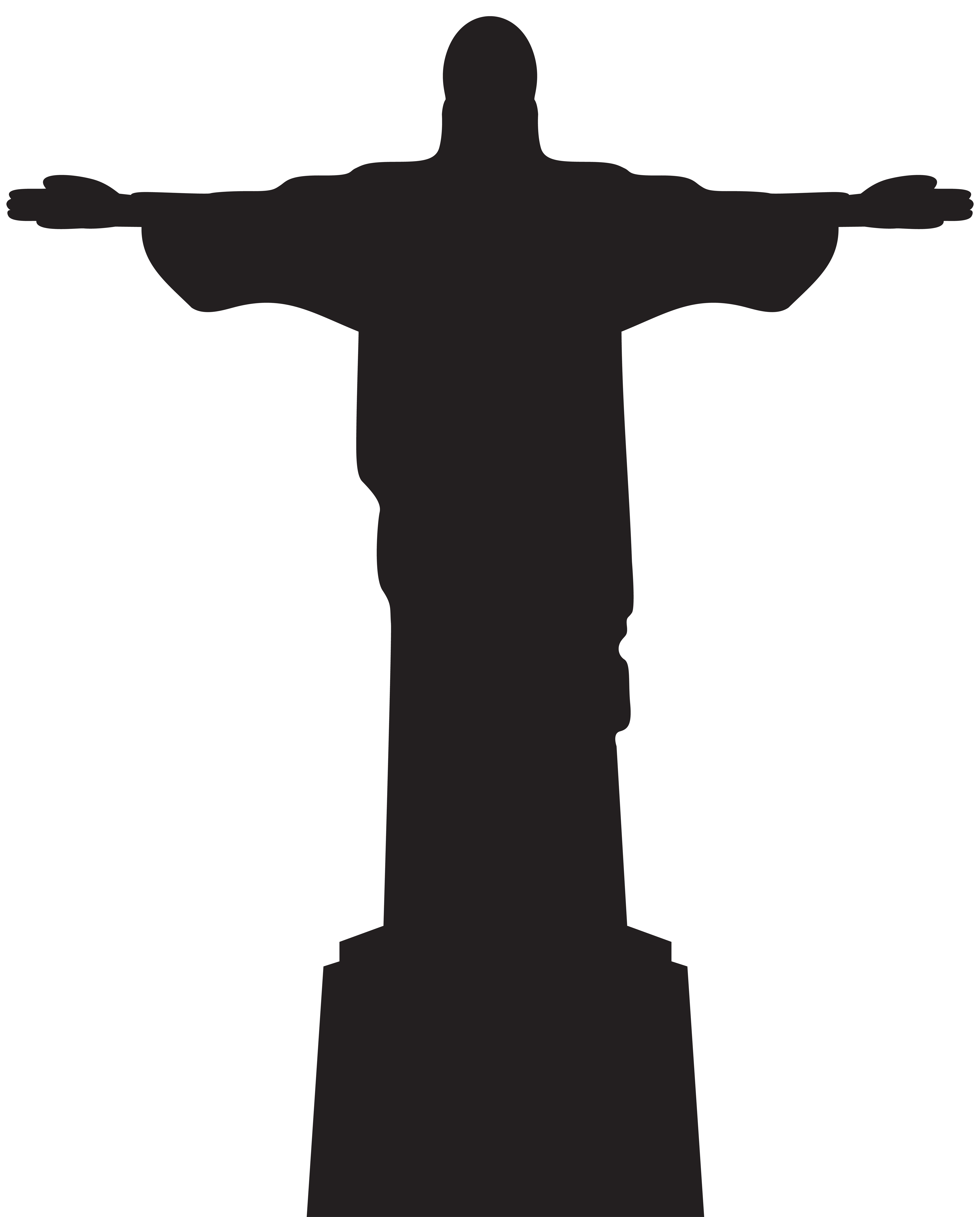 Christian clipart silhouette. Christ the redeemer corcovado