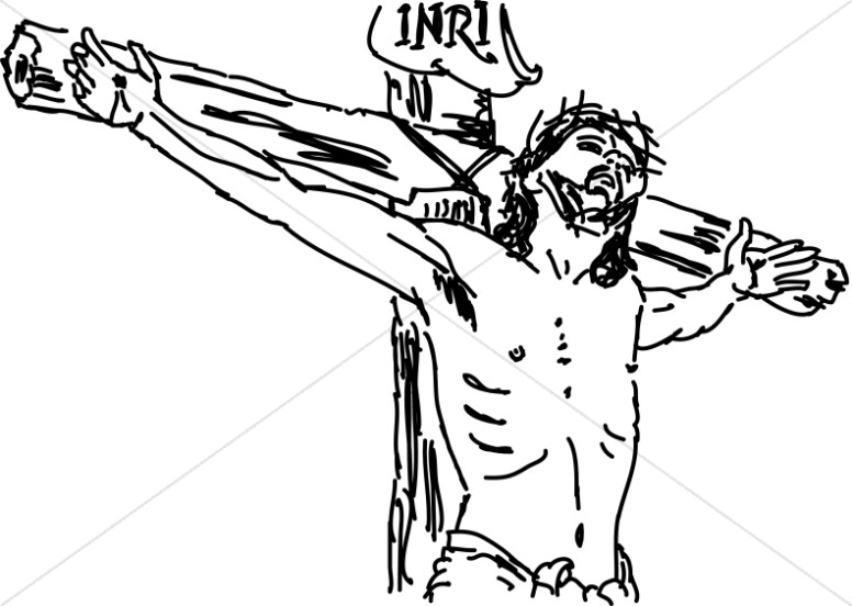 christian clipart sketch