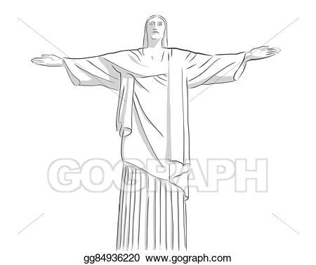 Vector art christ the. Christian clipart sketch