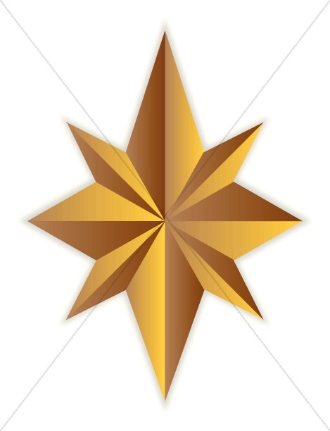 point gold. Christian clipart star