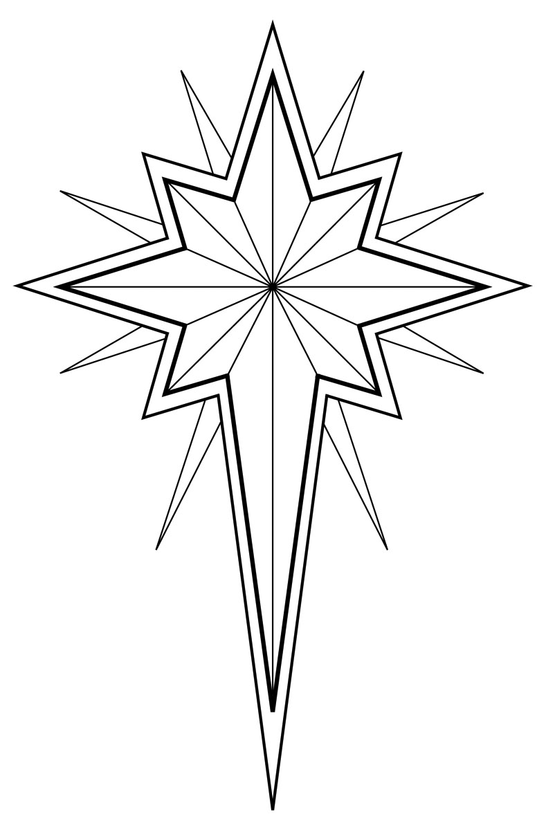Free black and white. Christian clipart star