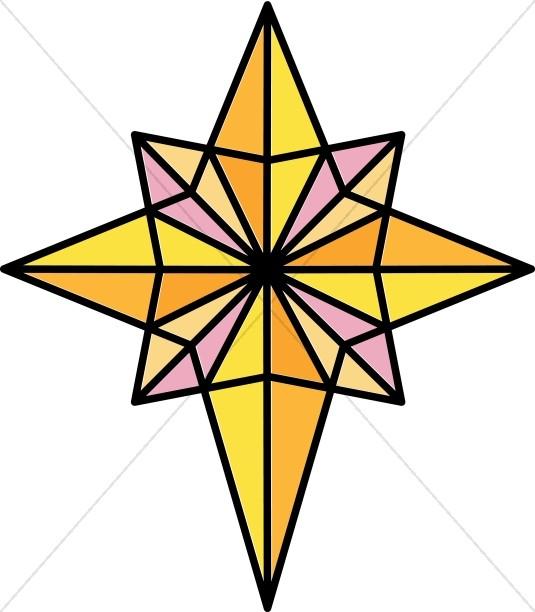 Natal. Christian clipart star