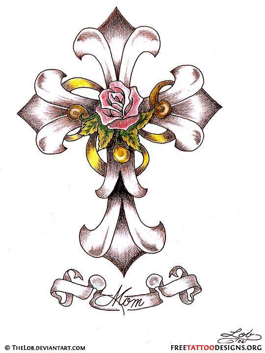 Christian clipart tribal.  cross tattoos tattoo