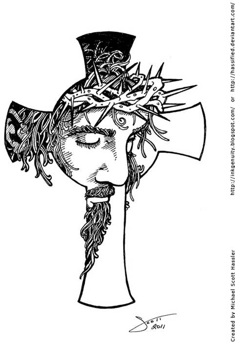 cross tattoos tattoo. Christian clipart tribal