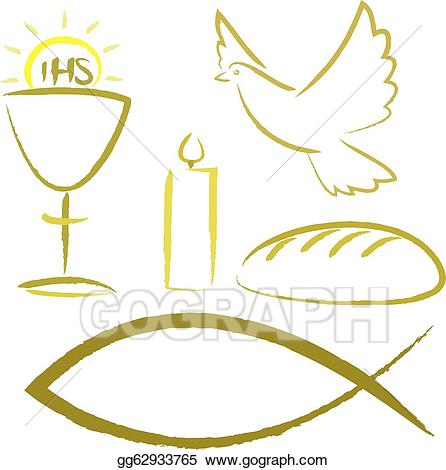 Communion clipart christianity. Vector stock holy religious