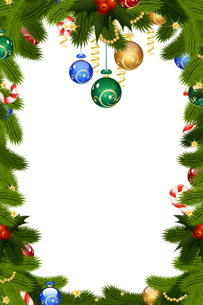 Christmas ornament border png. Transparent frame things