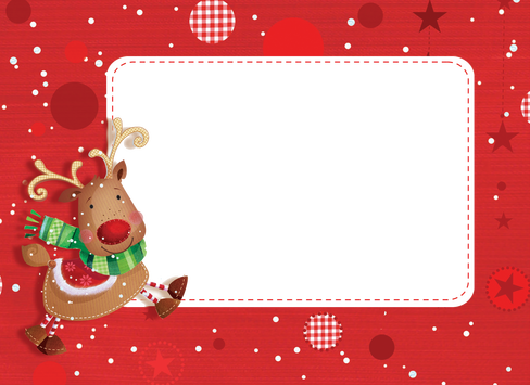 Christmas card frame png. Greeting frames merry town