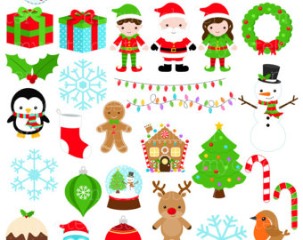 Etsy . Christmas clipart