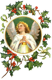 Christmas clipart angel. Free vintage angels on