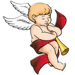 Christmas clipart angel. Free vintage angels
