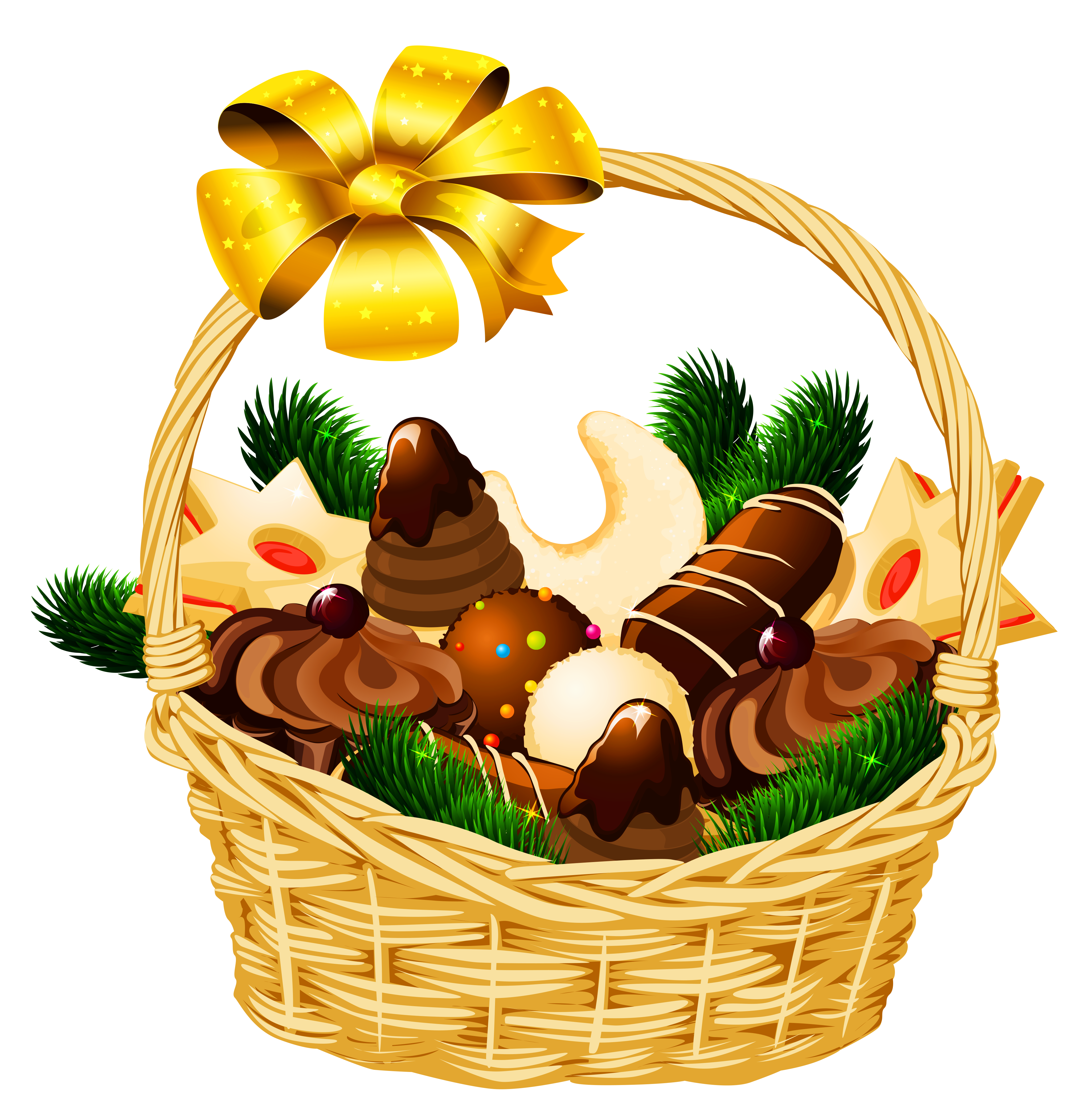 Holly clipart hampers. Holiday christmas basket png