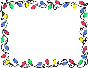 December clipart light border. Christmas clip art borders