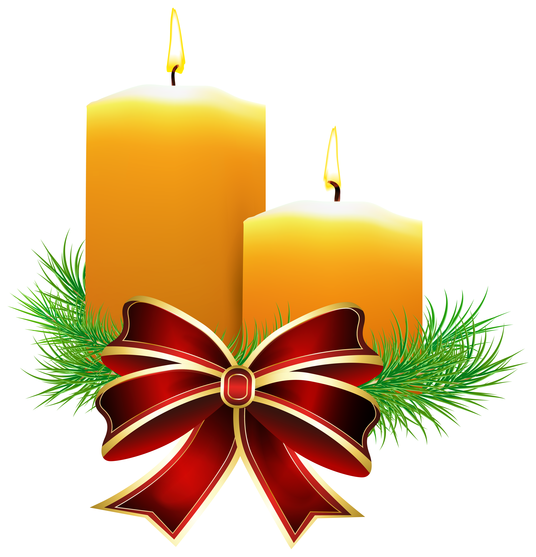 Christmas candles transparent png. Clipart door xmas