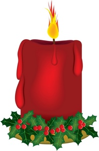 Christmas clipart candle. Free clip art image
