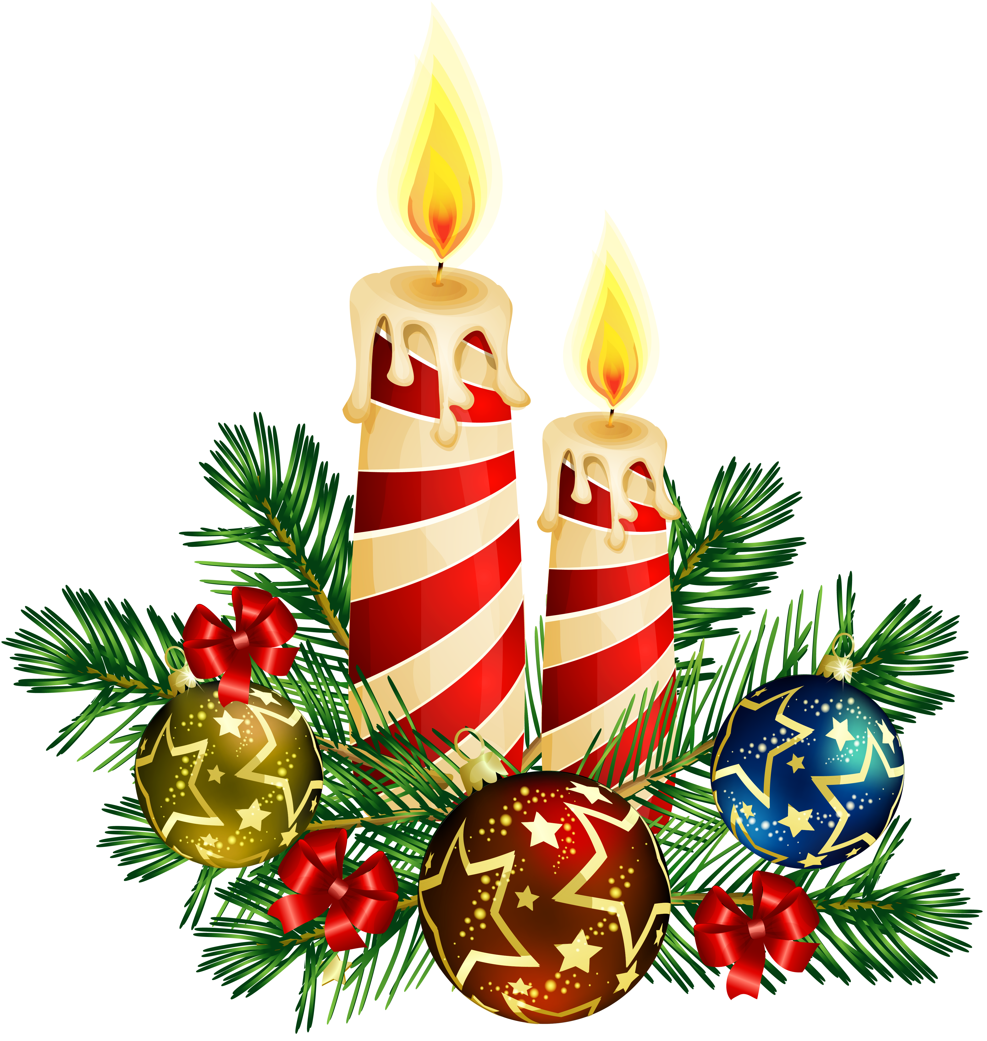 Free christmas candle images. Candles clipart beautiful