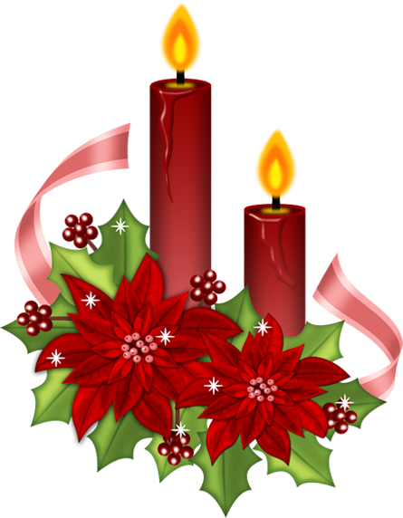 Christmas clipart candle. Free images download clip