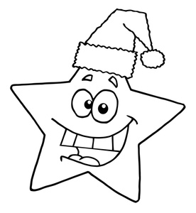 Christmas clipart coloring. Free page clip art