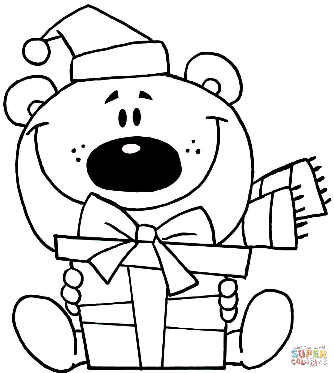 Christmas clipart coloring. Clip art pages free