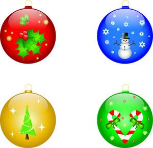 Christmas panda free images. Ornaments clipart small