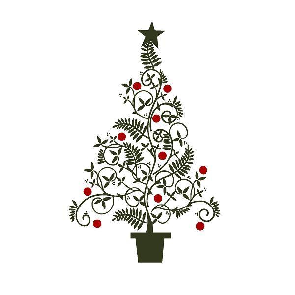 Fancy christmas tree clip. Ornament clipart elegant