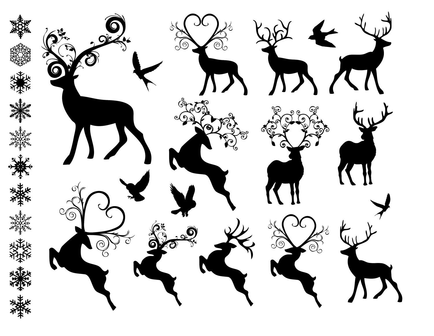awesome reindeer svg. Sleigh clipart fancy
