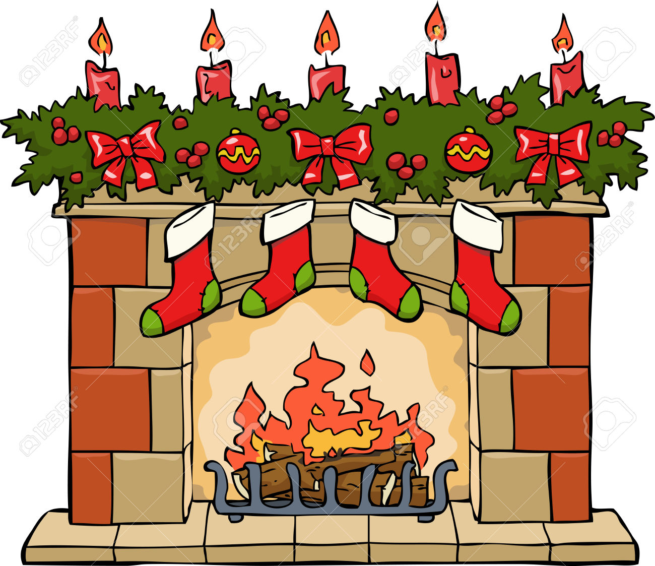 Fireplace clipart live. Christmas tumundografico clipartix