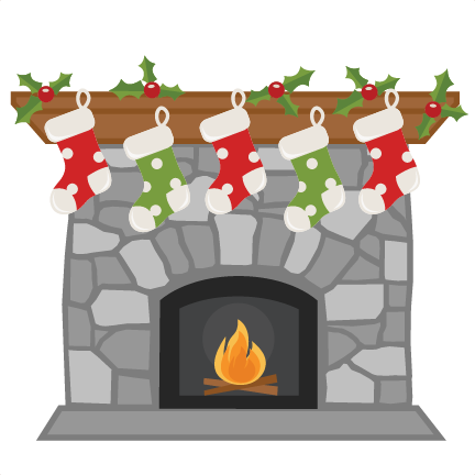 Christmas with stockings svg. Fireplace clipart transparent