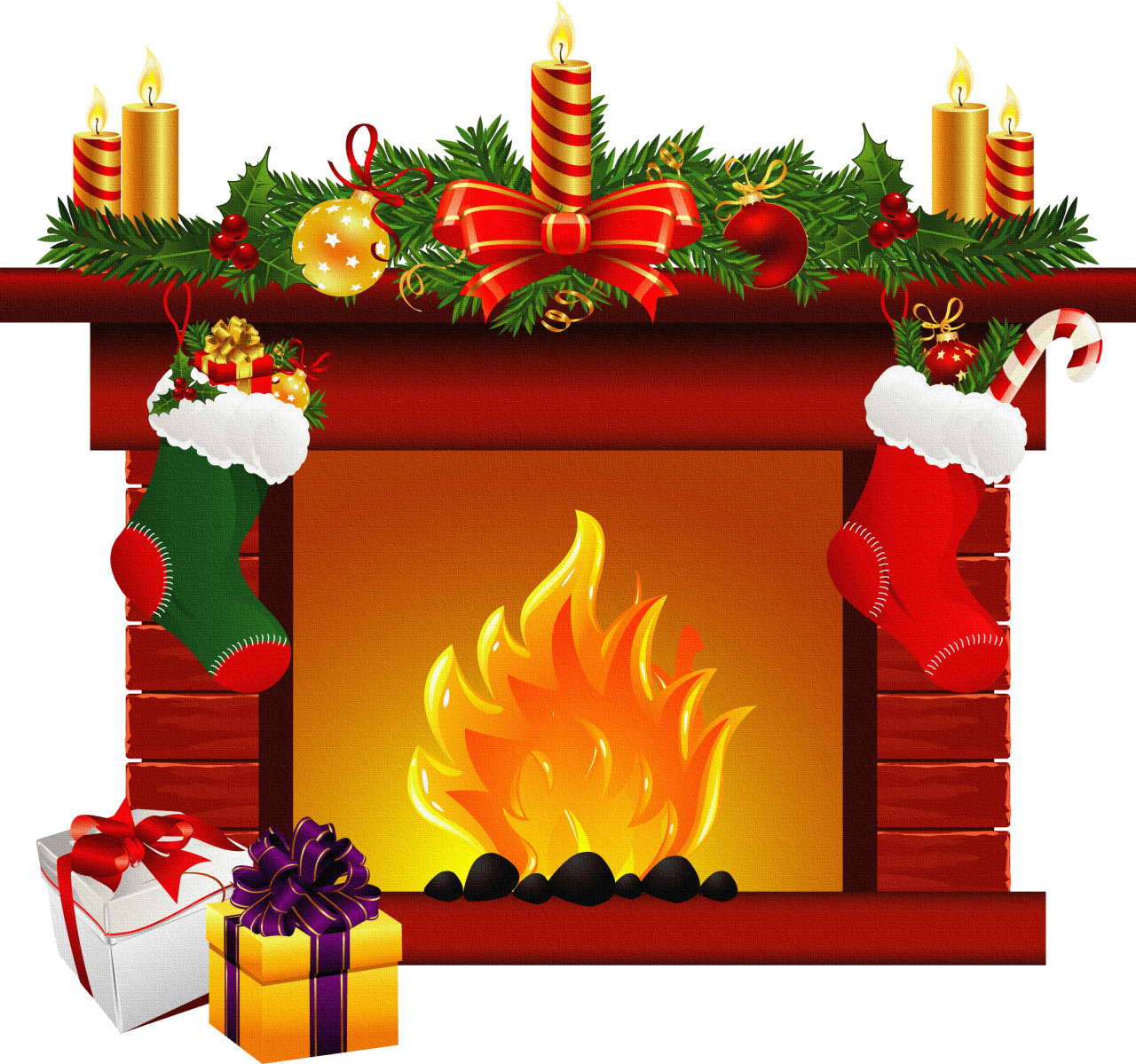 Fireplace clip art blusas. Clipart fire christmas tree