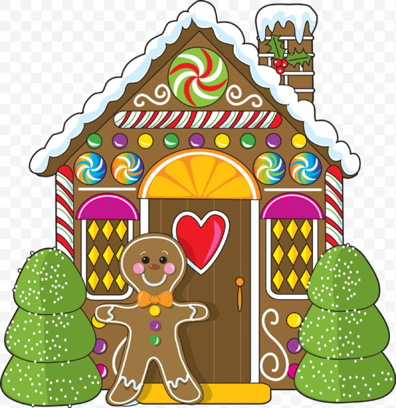 Gingerbread clipart gingerbread village. House clip art christmas
