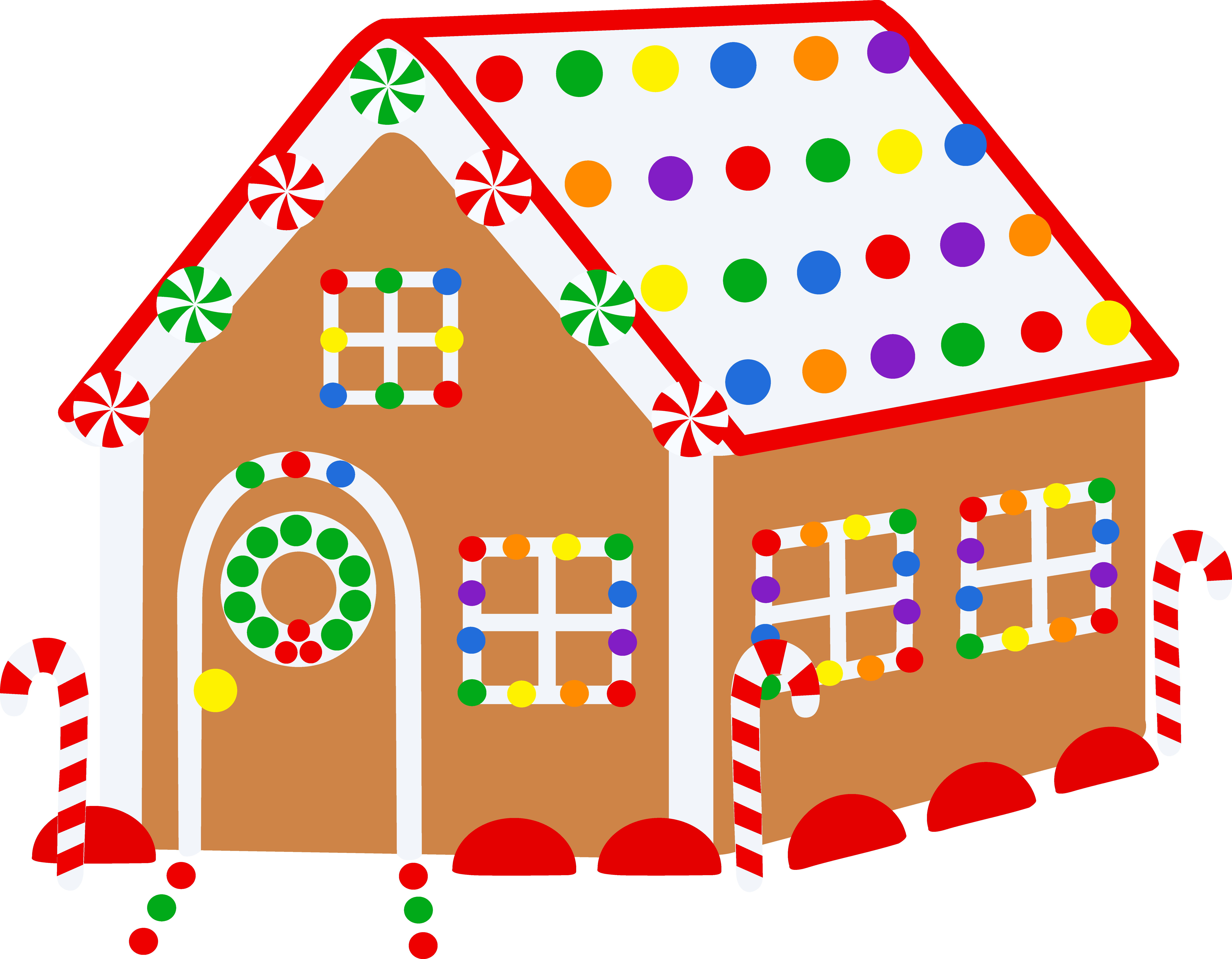 Free christmas gingerbread ideas. House clipart candy