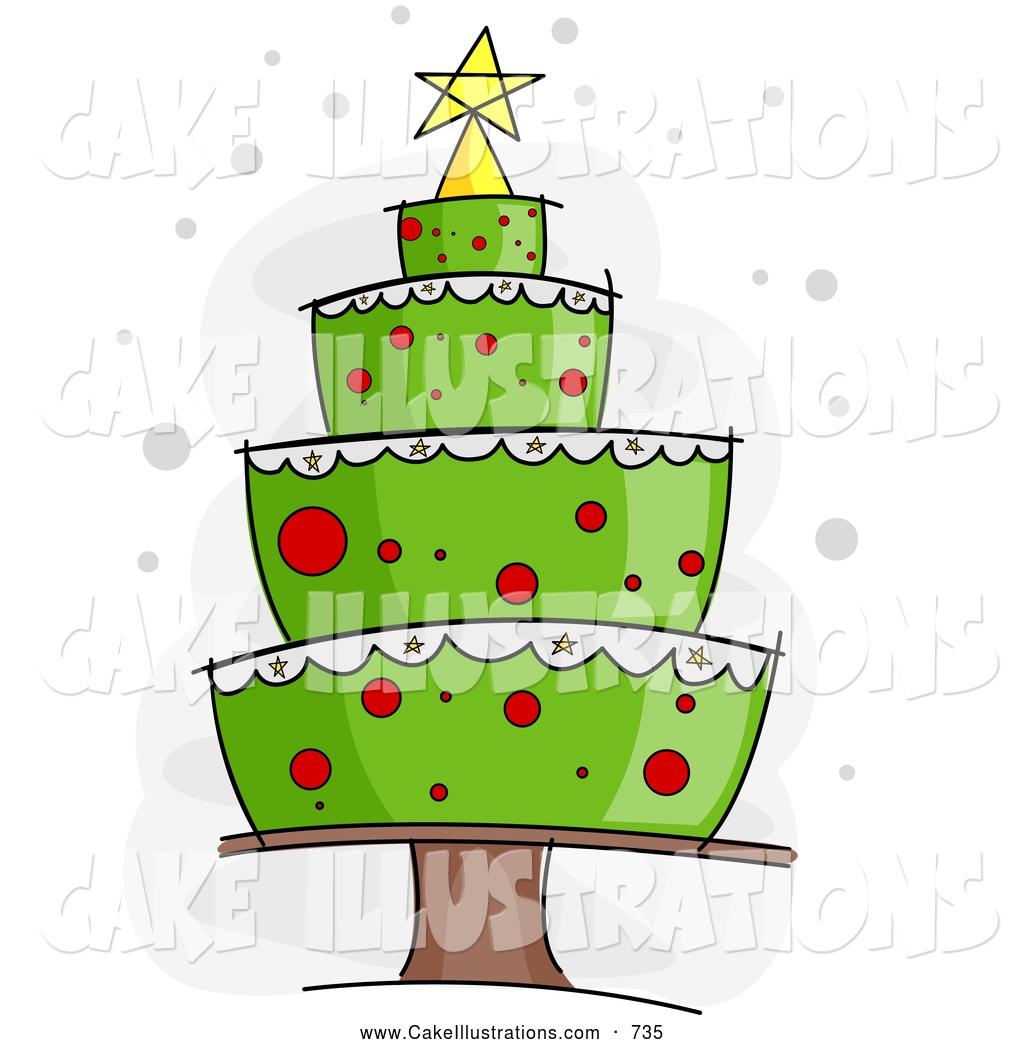 Birthday clip art christmas. Clipart cake tree