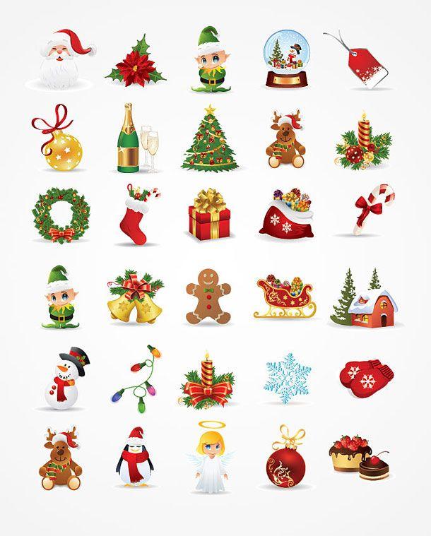 Christmas clipart icon. Symbols clip art google