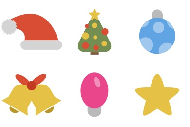 Christmas clipart icon. Icons simple