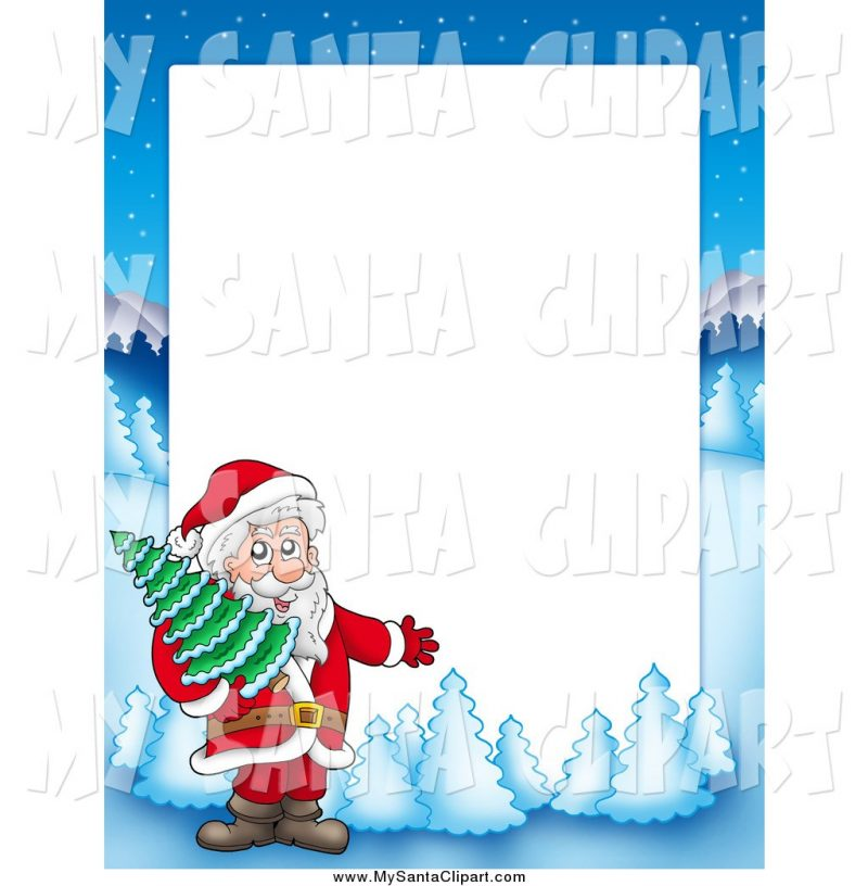 Greeting card borders cards. Christmas clipart landscape
