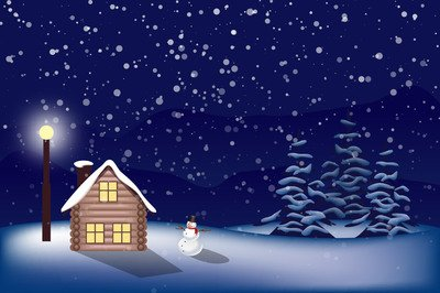 Free snowy and vector. Christmas clipart landscape