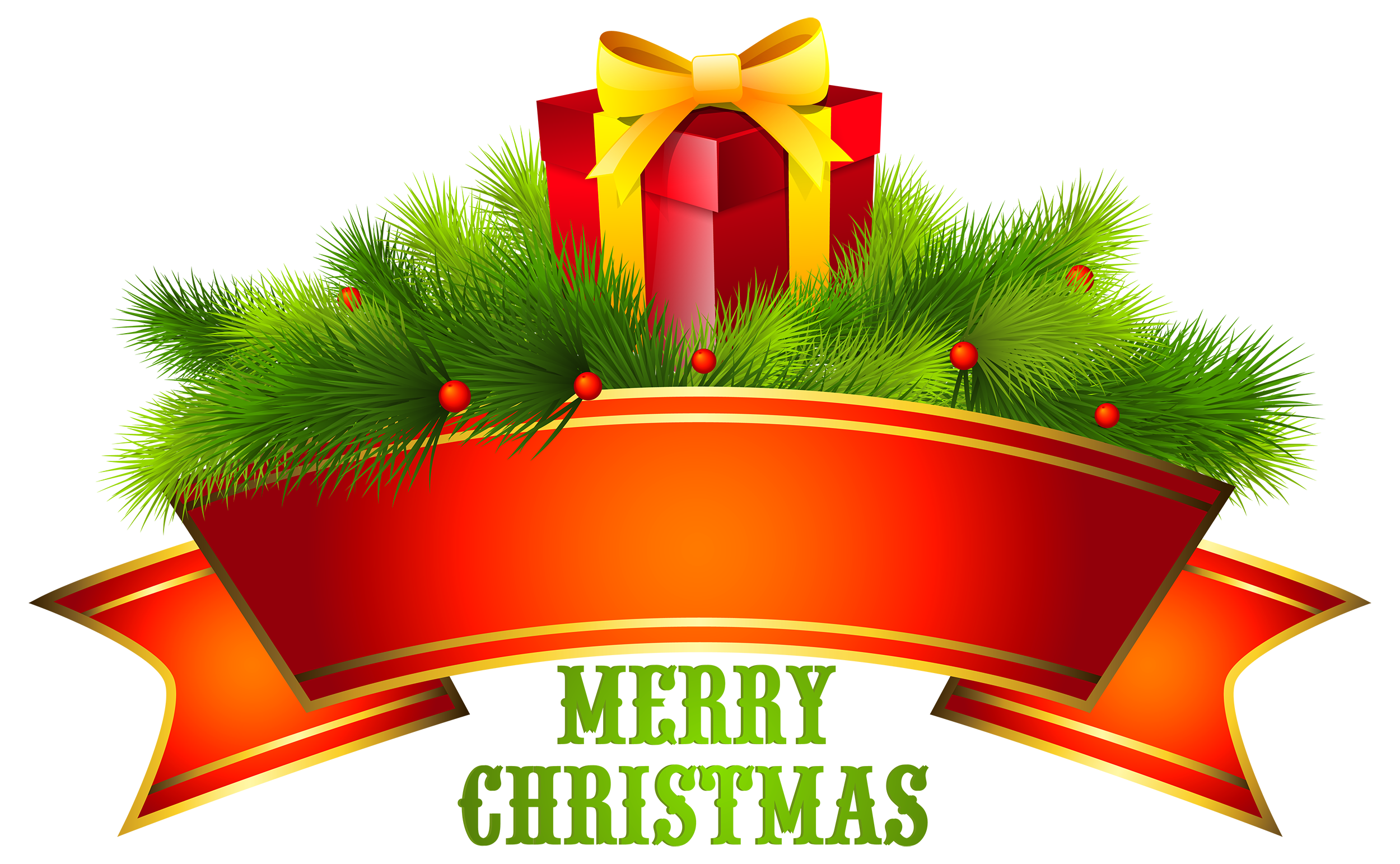 Merry text decor png. Scroll clipart christmas