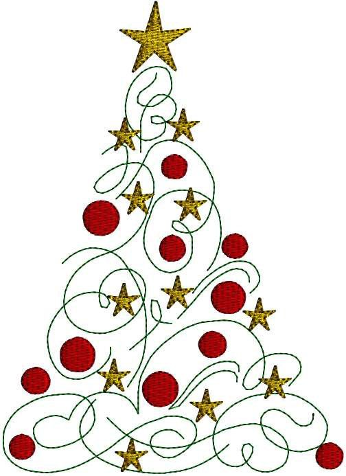 Holly clipart modern. Instant download christmas tree