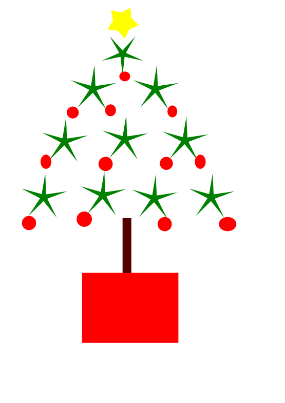 Clipart book tree. Modern christmas drawing at