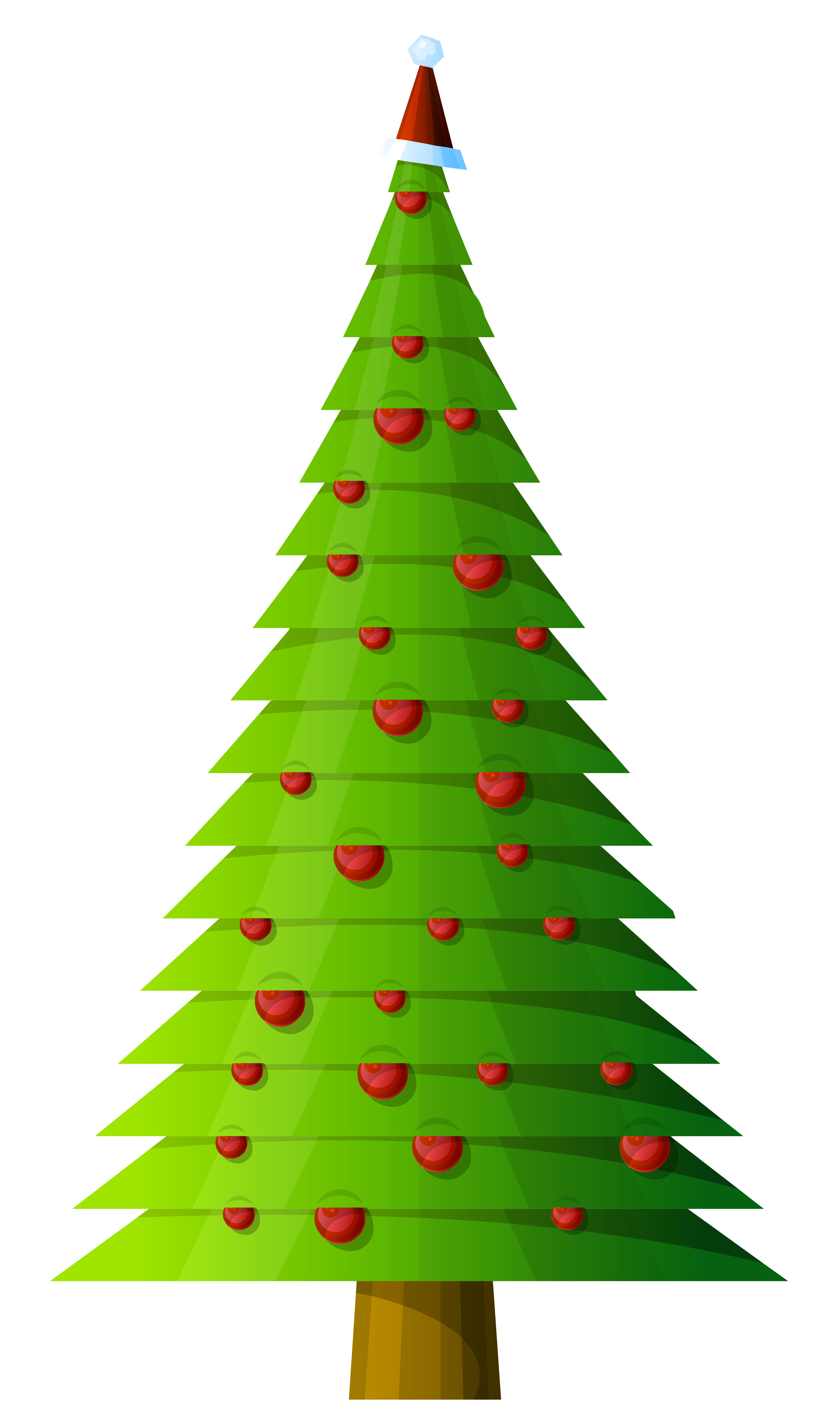 Clipart fruit christmas. Tree modern style transparent